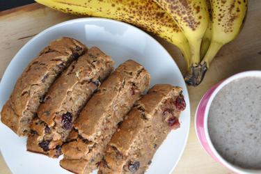 Полезный банановый хлеб (без сахара, без жира)