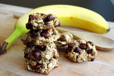 Бананово-овсяное печенье без сахара, муки и яиц - Всего 3 ингредиента