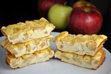 Протеиновые яблочные чизкейки (без глютена, без сахара)