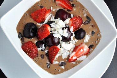 Полезное шоколадное мороженое (без глютена, без сахара)