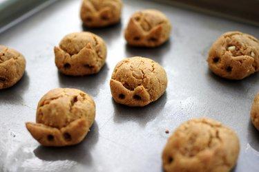 Арахисовое печенье всего из 3 ингредиентов (без глютена)