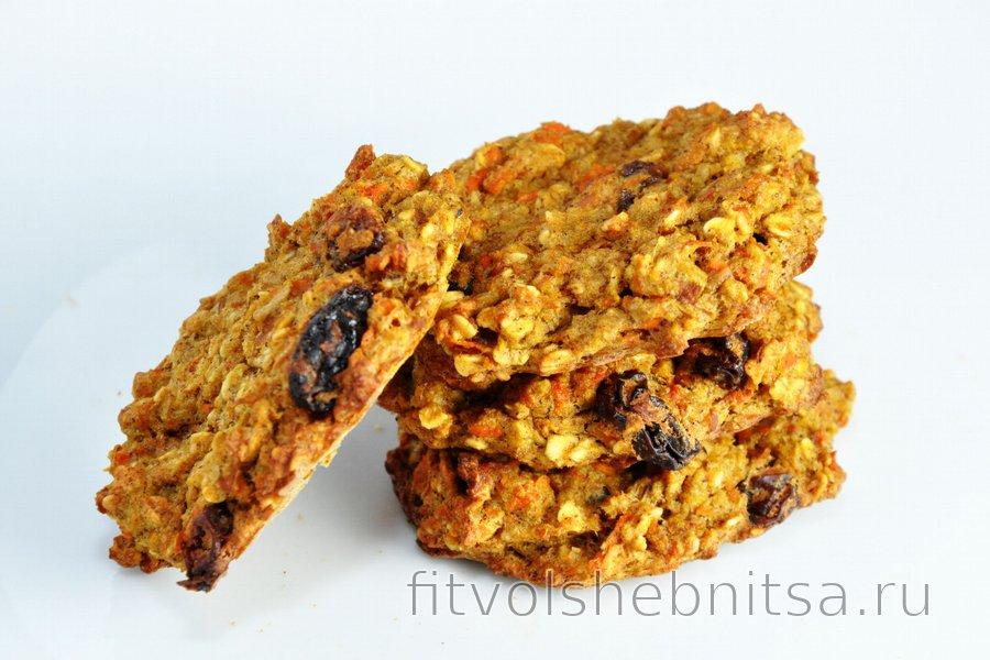 Морковно-яблочное фитнес печенье или хлеб без муки, сахара и жира