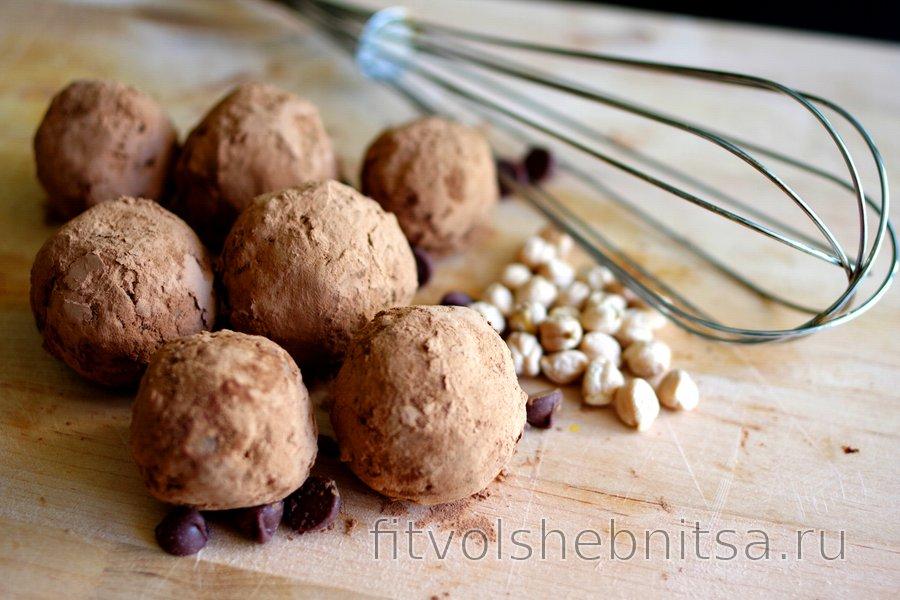 Нутовые шарики в какао (без глютена)