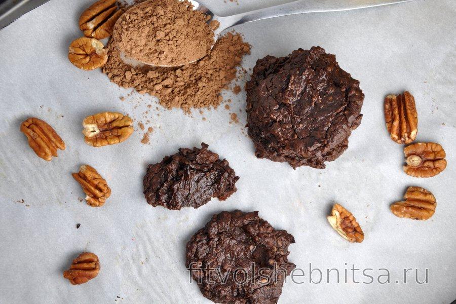 Шоколадное печенье с авокадо (без глютена)