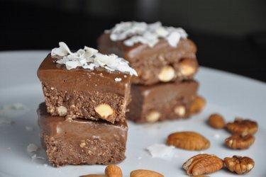 Шоколадные квадратные пирожные (без глютена)