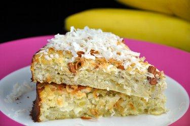 Кокосово-банановый пирог (без глютена)