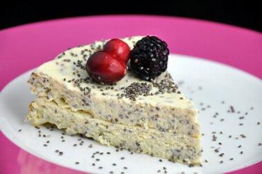 Творожный пирог с маком или семенами чиа (без глютена)