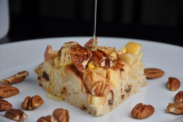 Яблочно-овсяный пирог (без глютена)
