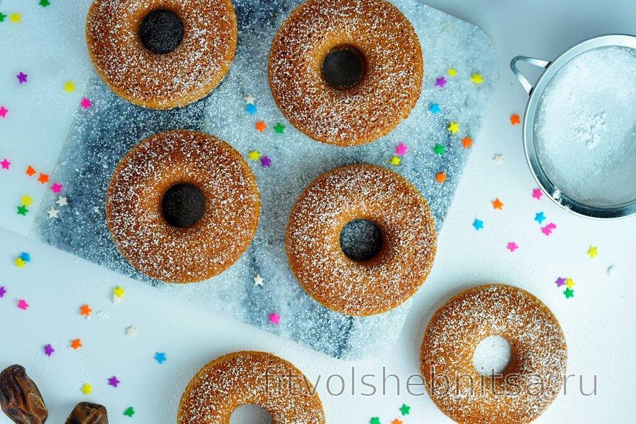 Простые пончики из запеченной овсянки