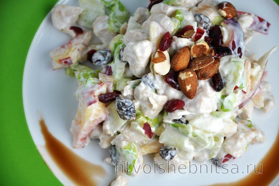 Вкуснейший фруктово-куриный салат