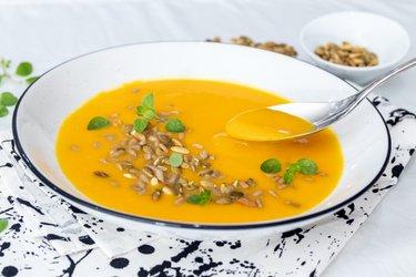 Простой тыквенный суп Хоккайдо