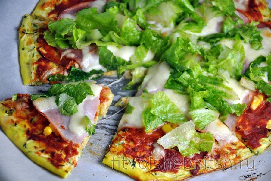 Корж для пиццы из цукини