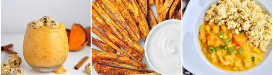 Полезные веганские рецепты со сладким картофелем