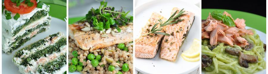 Полезные рецепты ланча и обеда из лосося