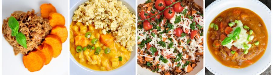 Полезные рецепты ланча и обеда из сладкого картофеля